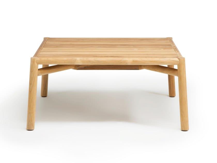 Teak garden side table KILT | Coffee table by Ethimo