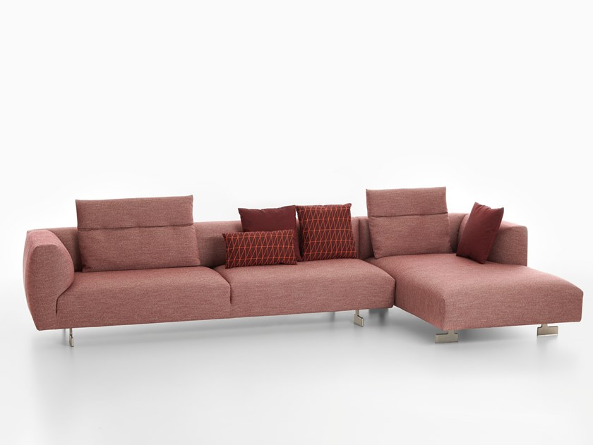 Sofa with chaise longue KIM | Sofa with chaise longue by Zanotta