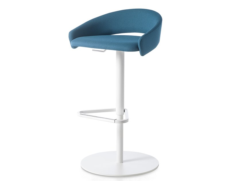 Fabric office stool with back KIMMI | Fabric office stool by Kastel