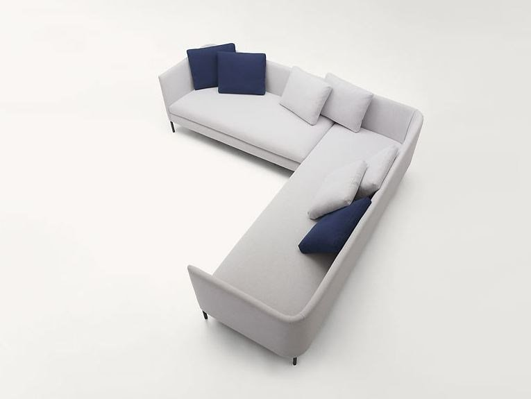 Corner fabric sofa with removable cover KIMONO | Corner sofa by paola lenti