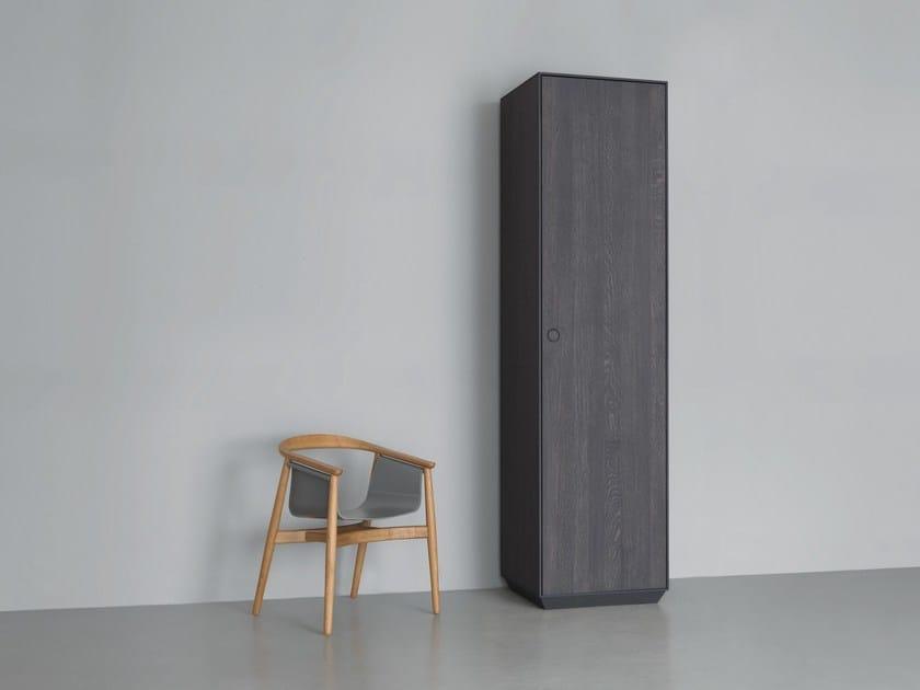 Solid wood wardrobe with 1 door KIN TALL | Wardrobe with 1 door by ZEITRAUM