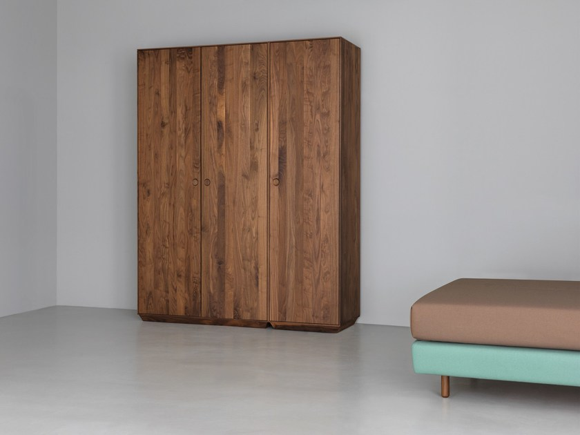 Sectional solid wood wardrobe KIN TALL | Sectional wardrobe by ZEITRAUM
