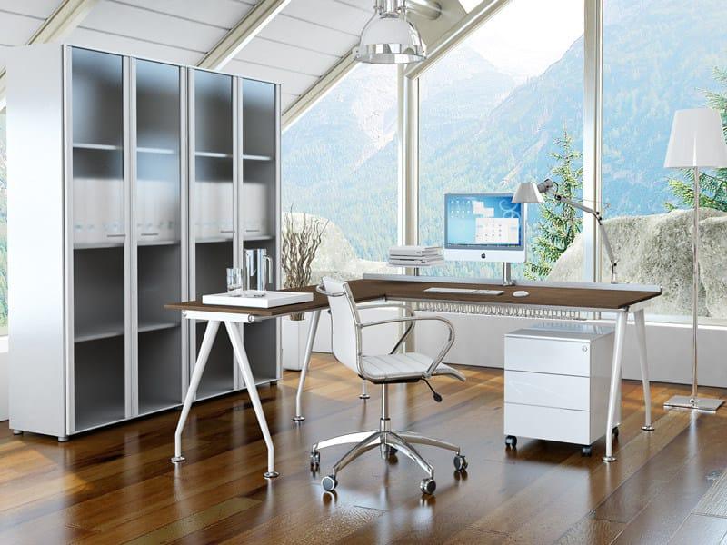 L-shaped workstation desk KINESIS KC1 by Arcadia