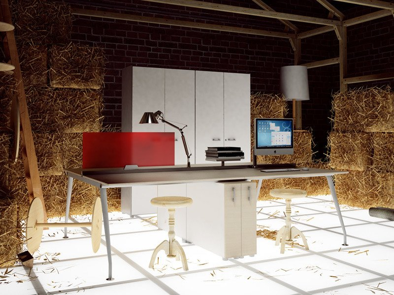 Multiple office workstation for open space KINESIS KC4 by Arcadia