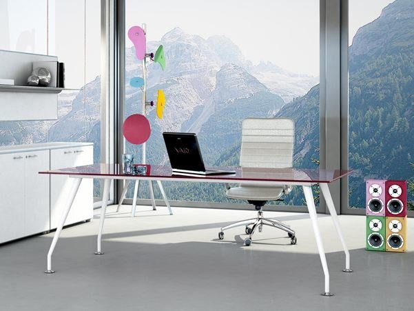 Rectangular workstation desk KINESIS | Office desk by Arcadia