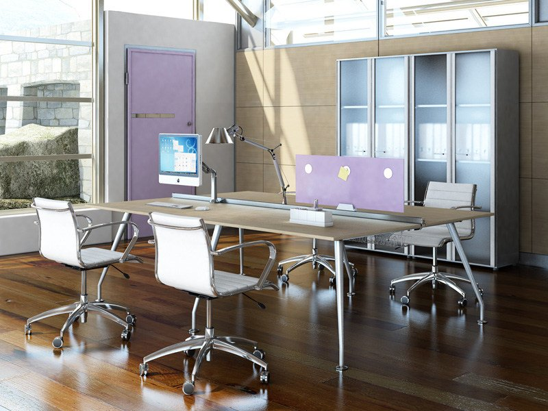 Multiple office workstation for open space KINESIS | Office workstation by Arcadia