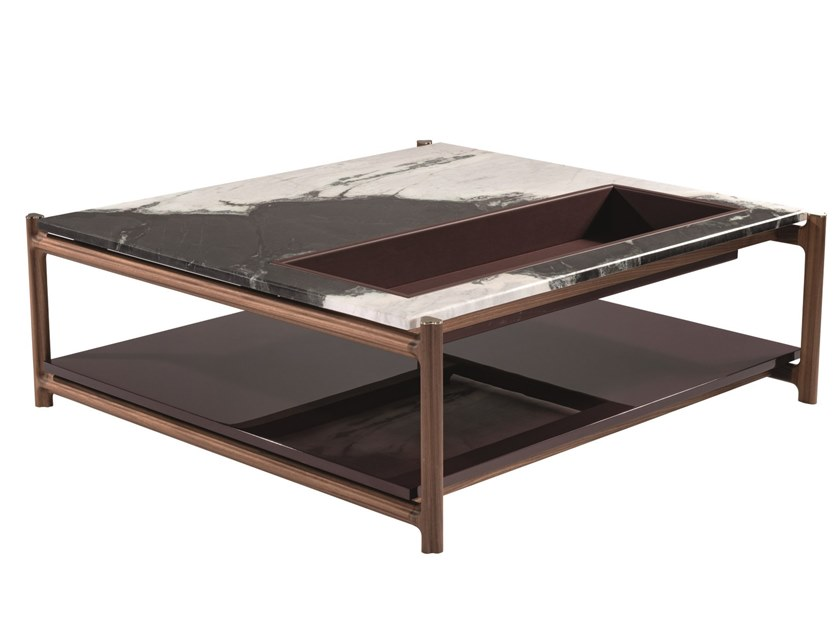Low square marble coffee table KING'S CROSS | Square coffee table by Visionnaire