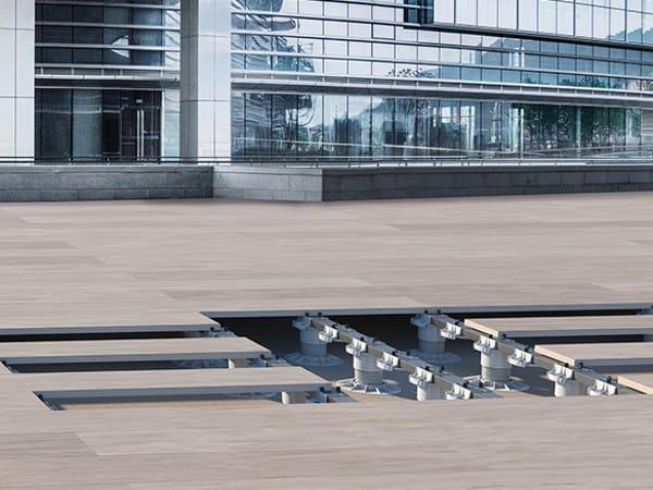 Modular system for raised flooring KING®-SLAT CERAMIC by DPS FLOOR