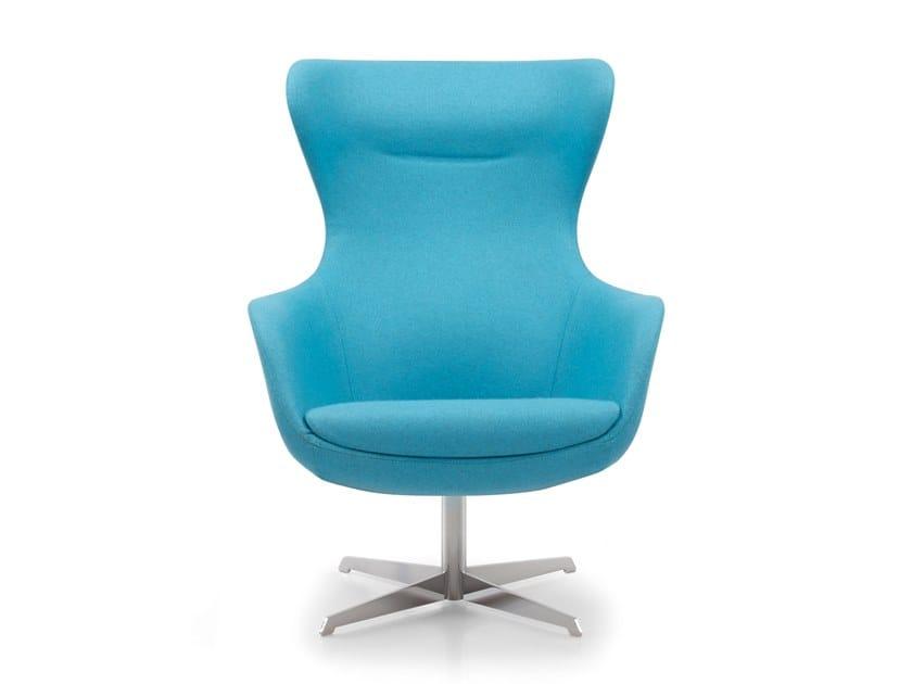 Swivel armchair with 4-spoke base KING STAR by Riccardo Rivoli