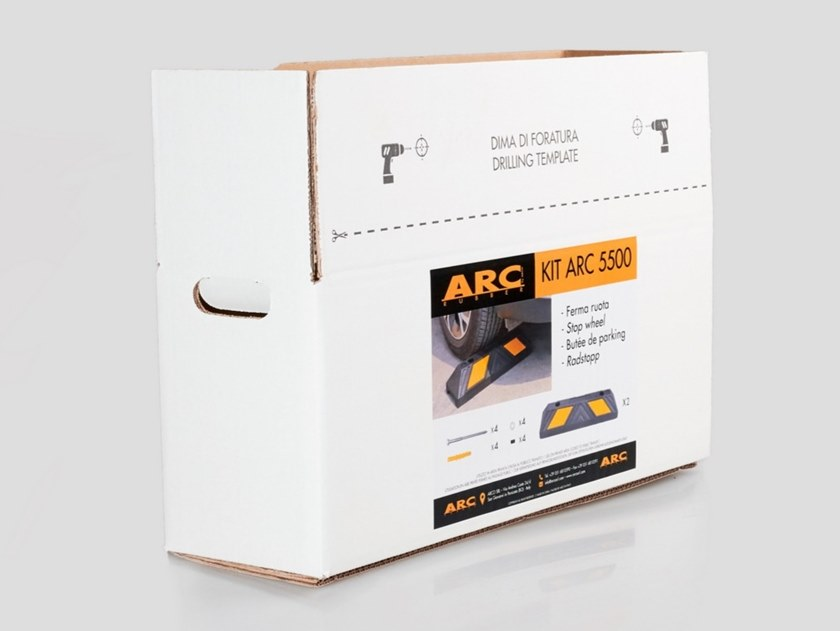 Kit for Vulcanized rubber Wheel stop KIT ARC 5500 by Arco