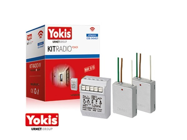 Home automation system for automations for households KIT RADIO POWER by YOKIS