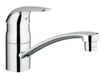 Countertop 1 hole kitchen mixer tap with swivel spout EUROECO | Kitchen mixer tap by Grohe