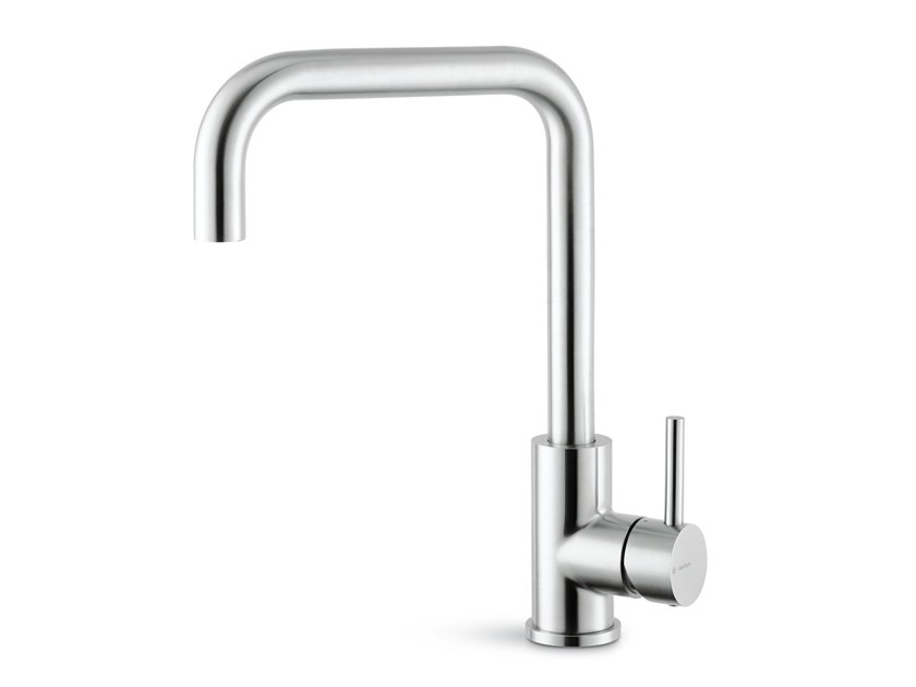 Countertop single handle kitchen mixer tap with swivel spout REAL STEEL | Kitchen mixer tap by newform