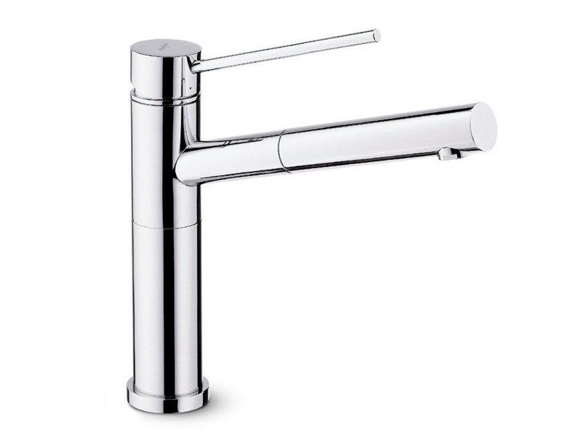Single handle kitchen mixer tap with pull out spray X-TREND INOX | Kitchen mixer tap with pull out spray by newform