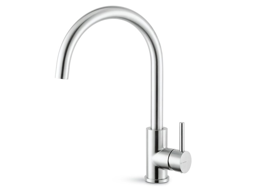Single handle kitchen mixer tap with swivel spout REAL STEEL | Kitchen mixer tap with swivel spout by newform