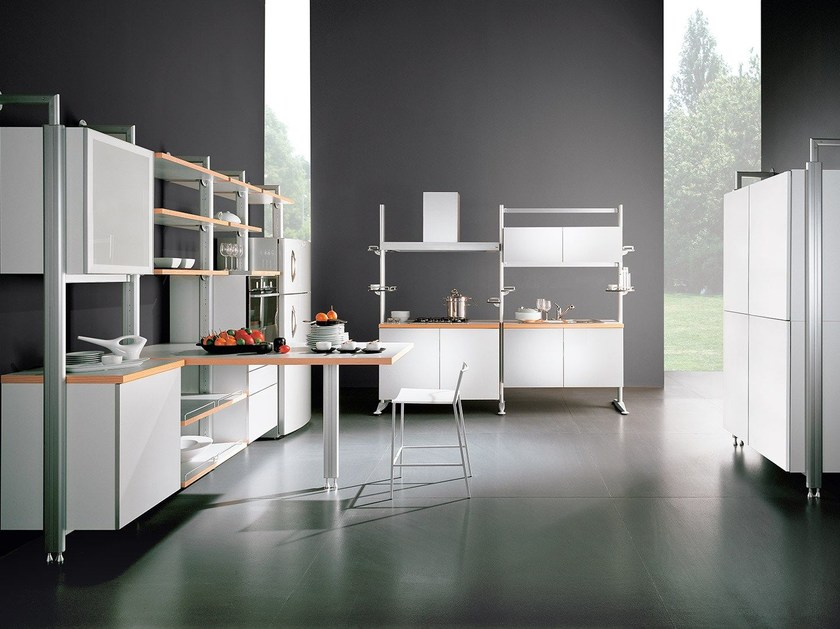 Cucina componibile in alluminio e legno SYSTEMATICA | Cucina by Oikos Cucine