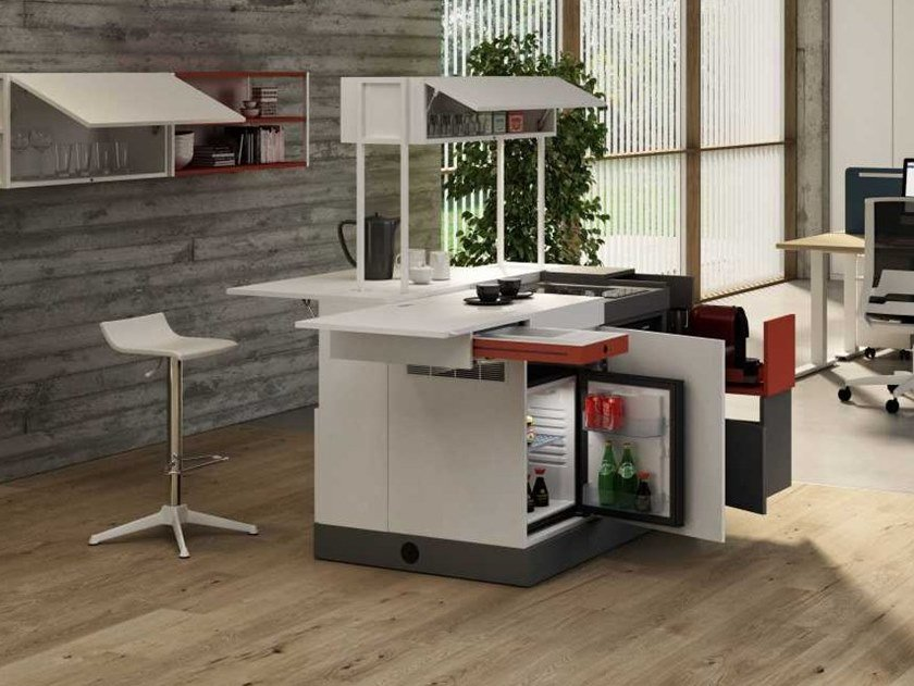 Mini Kitchen with island DOMOMAG | Mini Kitchen with island by Bralco