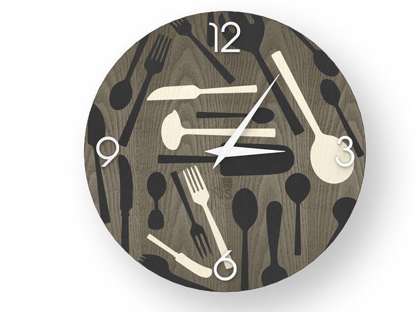Wall-mounted wooden clock KITCHENTOOLS COLD | Clock by LIGNIS®
