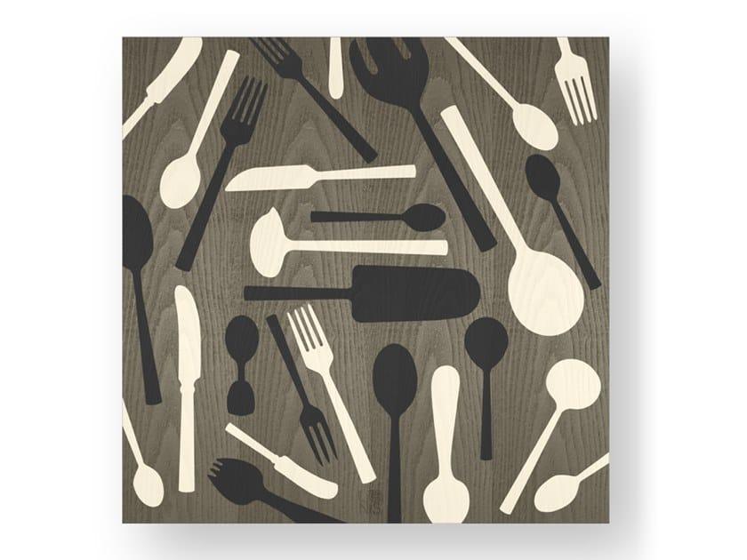 Quadro in legno intarsiato KITCHENTOOLS COLD by LIGNIS®