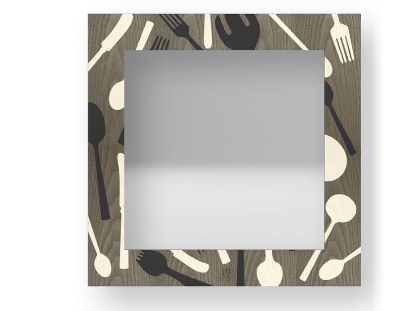 Specchio quadrato a parete con cornice KITCHENTOOLS COLD | Specchio by LIGNIS®