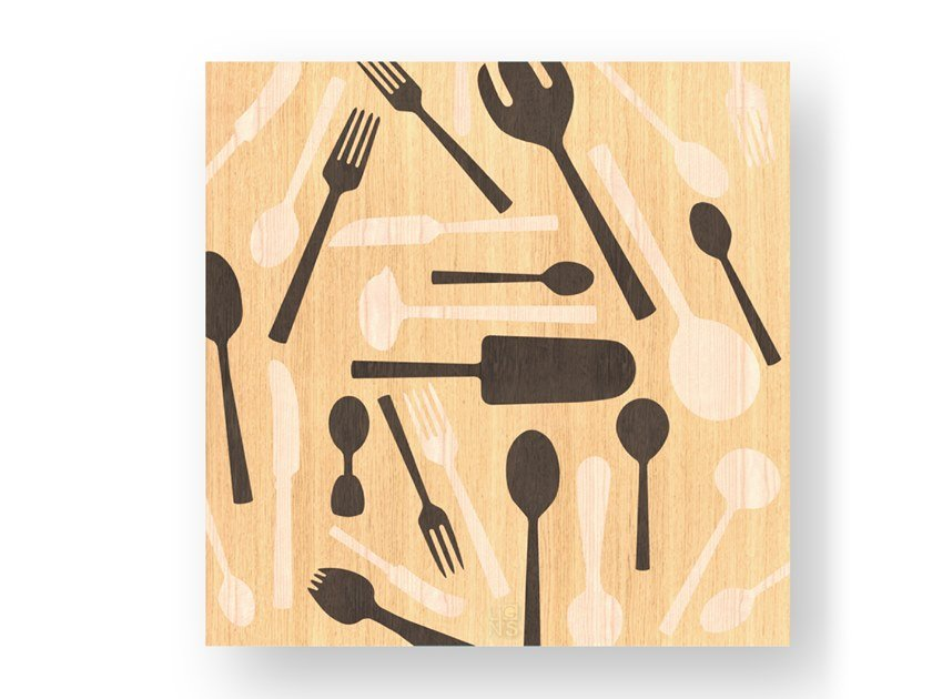 Wooden Decorative panel KITCHENTOOLS WARM by LIGNIS®