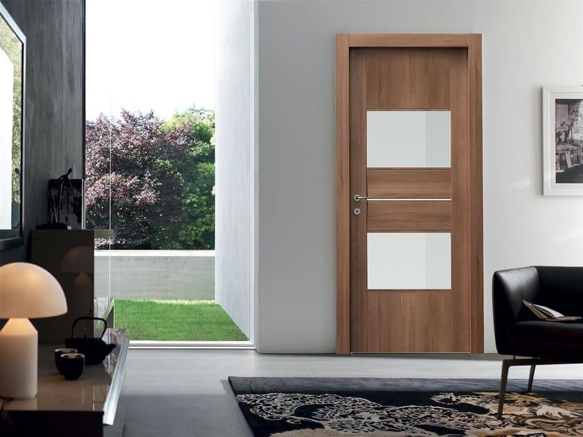 Hinged wood and glass door KITE by Door 2000