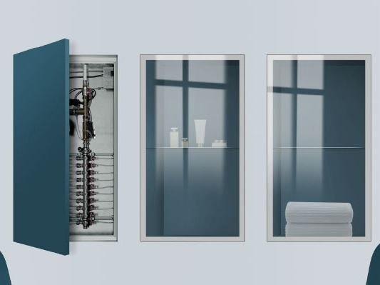 Flush-to-the-wall door system KIUSO by ROYAL PAT