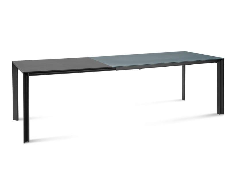 Extending dining table KLASS-160 by DOMITALIA