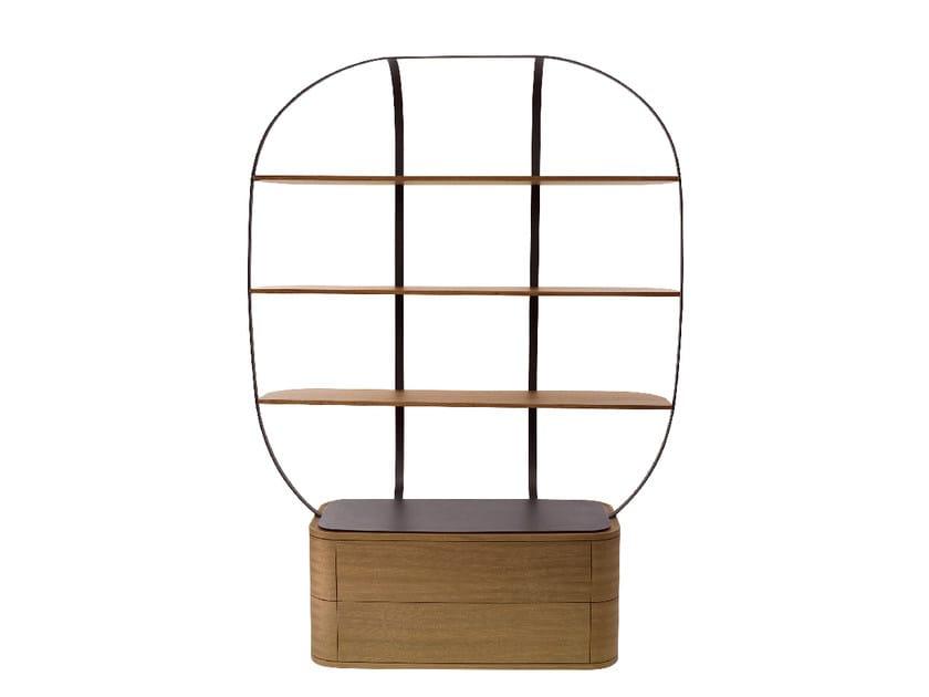 Libreria in legno con cassetti KLEC by Monolithe Edition