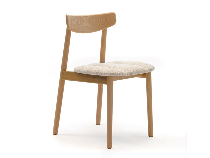 Ash chair with integrated cushion KLEE | Chair with integrated cushion by COEDITION