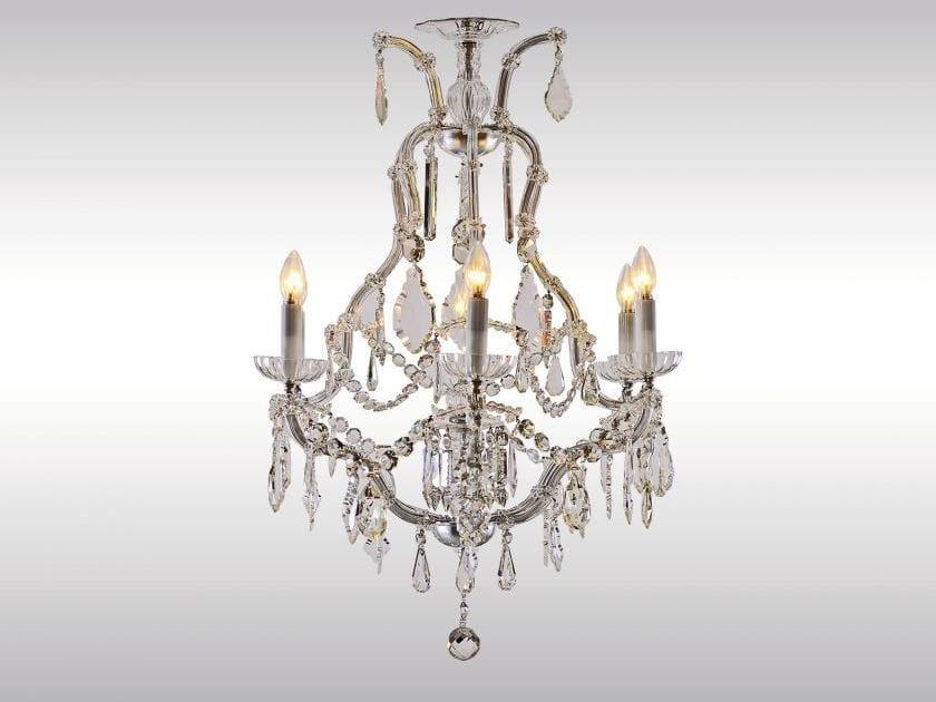 Classic style crystal chandelier KLEINER SALONLUSTER by Woka Lamps Vienna