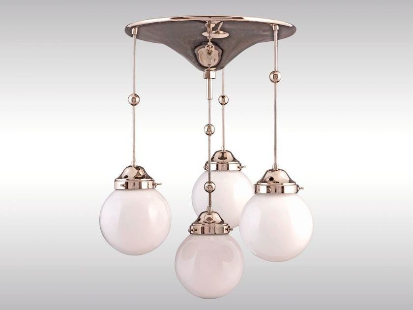 Lampada a sospensione in metallo in stile classico KM1 by Woka Lamps Vienna