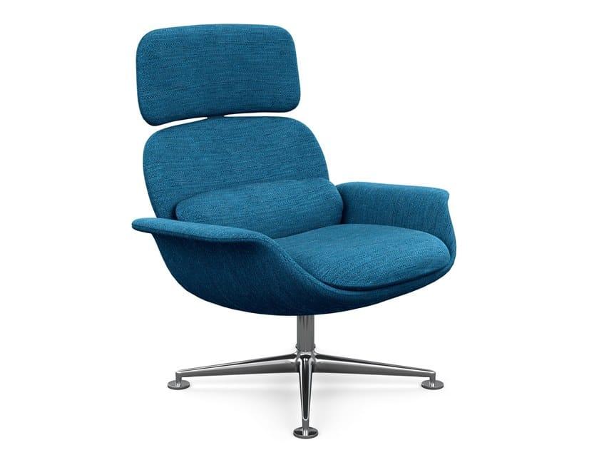 Swivel high-back fabric armchair KN02 | Fabric armchair by KNOLL