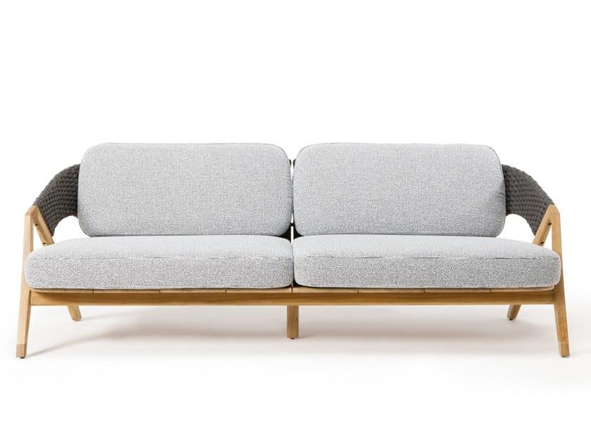 3 seater teak garden sofa KNIT | 3 seater garden sofa by Ethimo