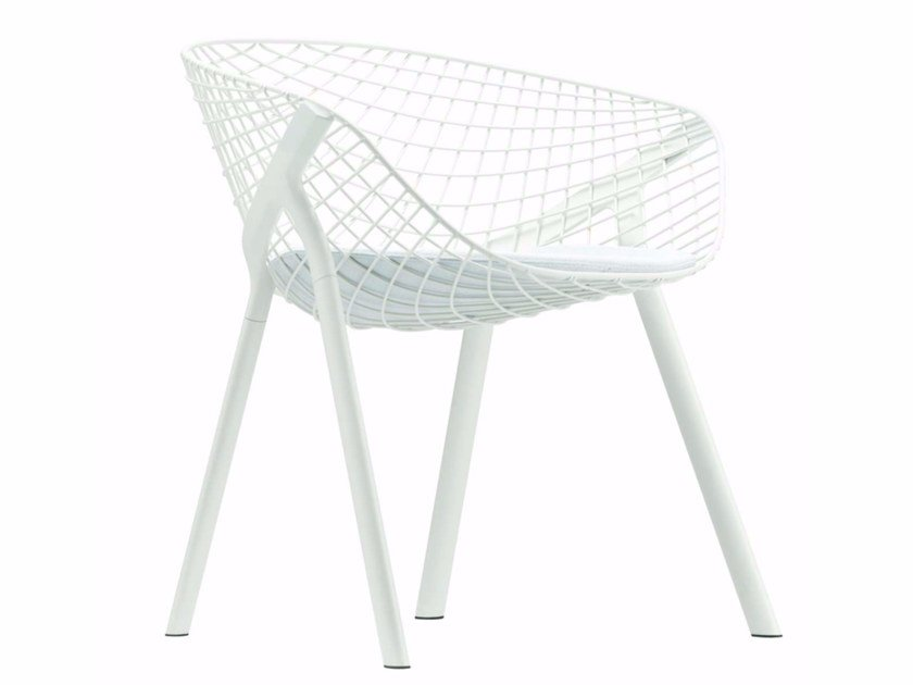 Steel chair with armrests KOBI PAD SMALL - 042 by Alias