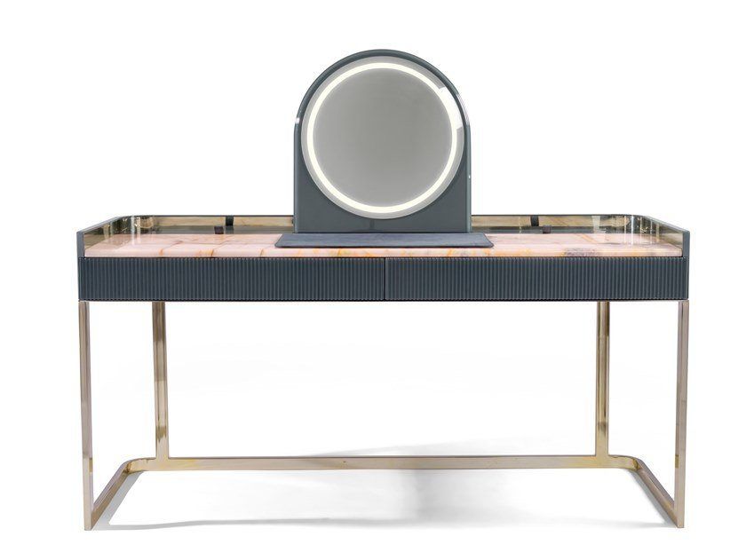 Glossy steel dressing table KOBOL by Visionnaire