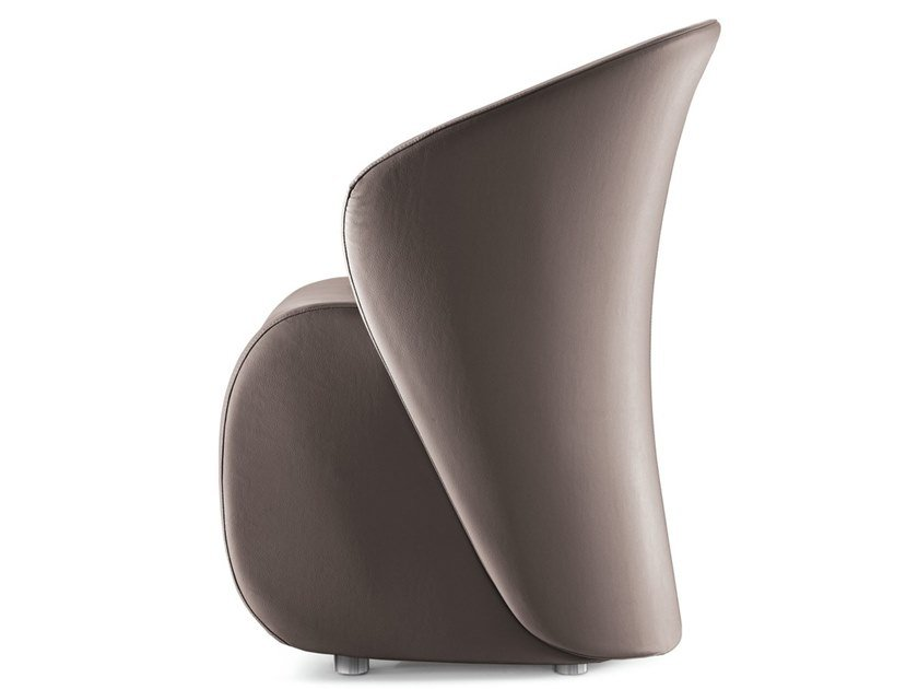 Leather guest chair KOCCOLA | Easy chair by Kastel