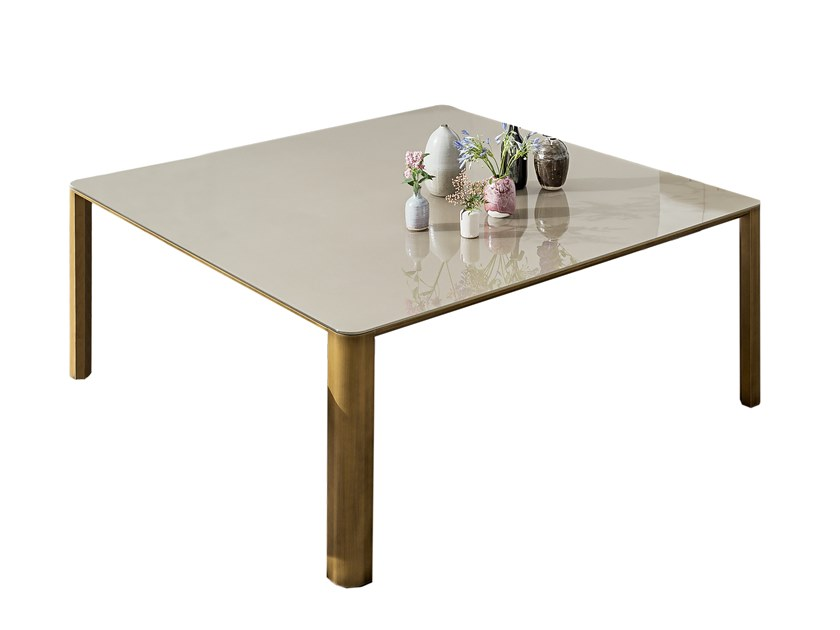 Square glass table KODO | Square table by Sovet italia