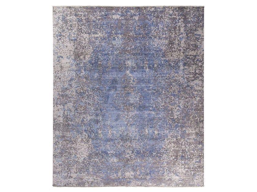 Handmade custom rug KOHINOOR REVIVED BEIGE & BLUE by Thibault Van Renne
