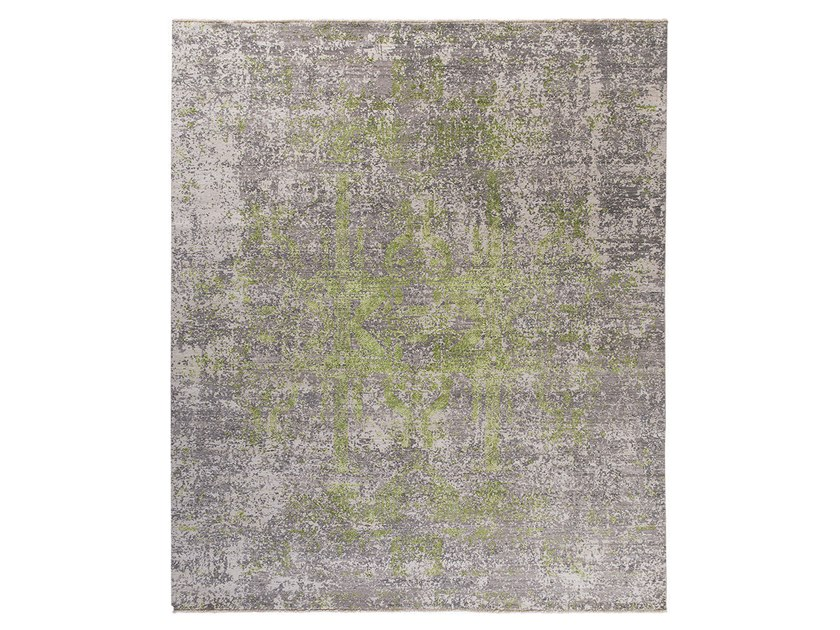 Handmade custom rug KOHINOOR REVIVED GREEN by Thibault Van Renne