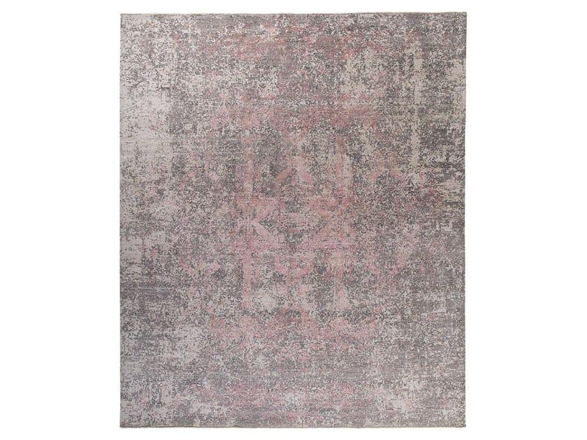 Handmade custom rug KOHINOOR REVIVED PINK by Thibault Van Renne