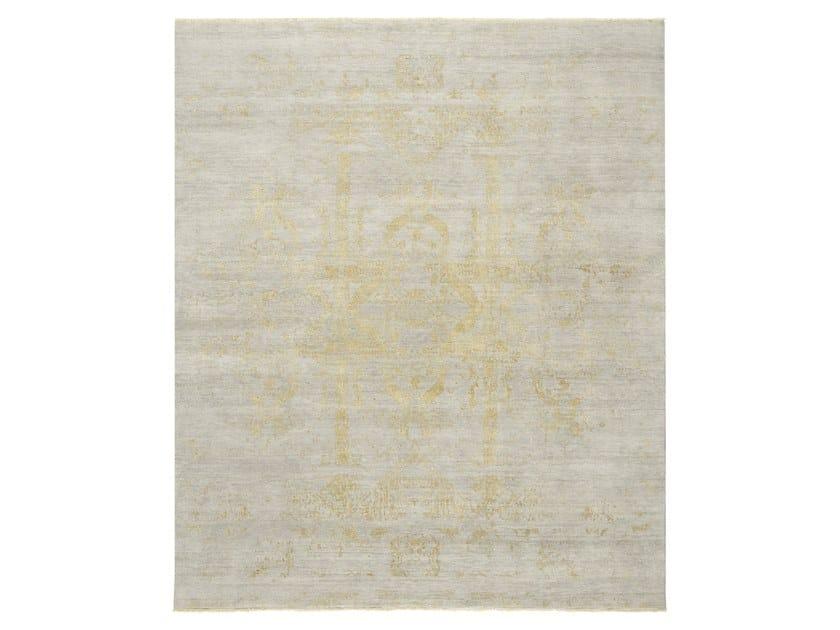 Handmade custom rug KOHINOOR REVIVED SILK & GOLD by Thibault Van Renne