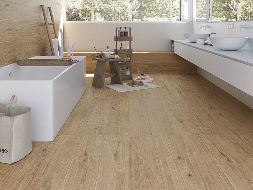 Porcelain stoneware wall/floor tiles with wood effect KOKKOLA by VIVES