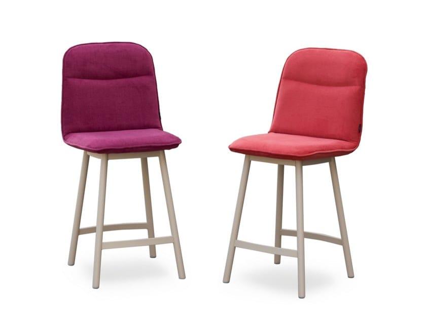 High upholstered fabric stool KÖLN | Stool by MOBLIBERICA