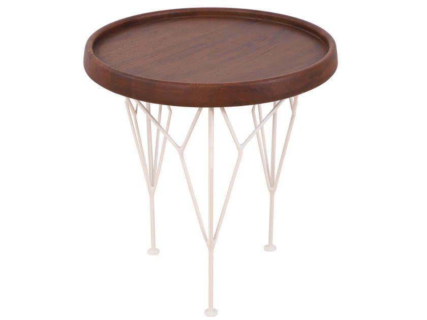 Round beech coffee table KOMBI | Beech coffee table by ALANKARAM