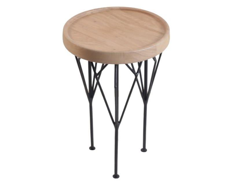 Round English oak coffee table KOMBI   English oak coffee table by ALANKARAM