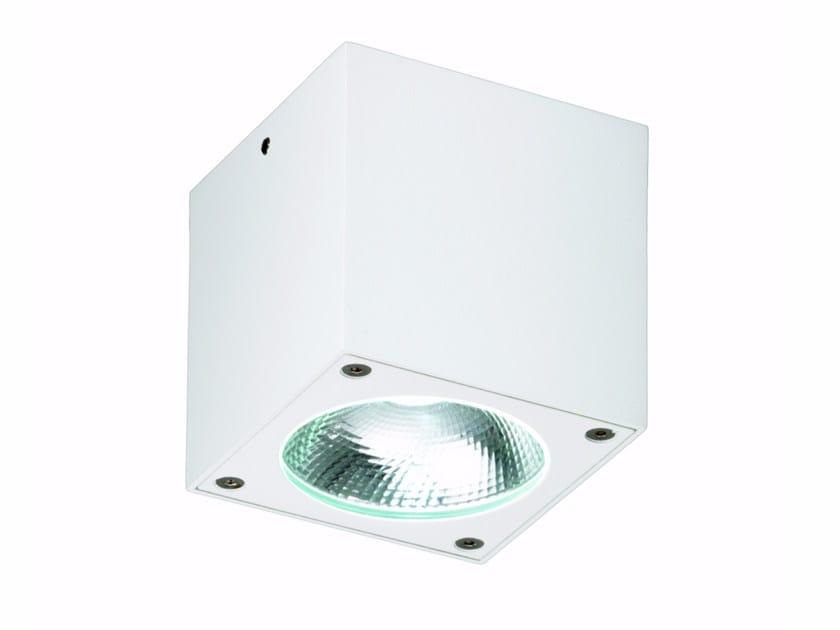LED square ceiling die cast aluminium spotlight KOMBU | Square spotlight by ROSSINI