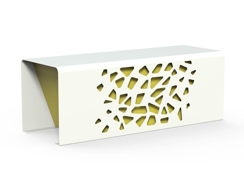 Panchina in acciaio zincato senza schienale KOMETE   Panchina by DIMCAR