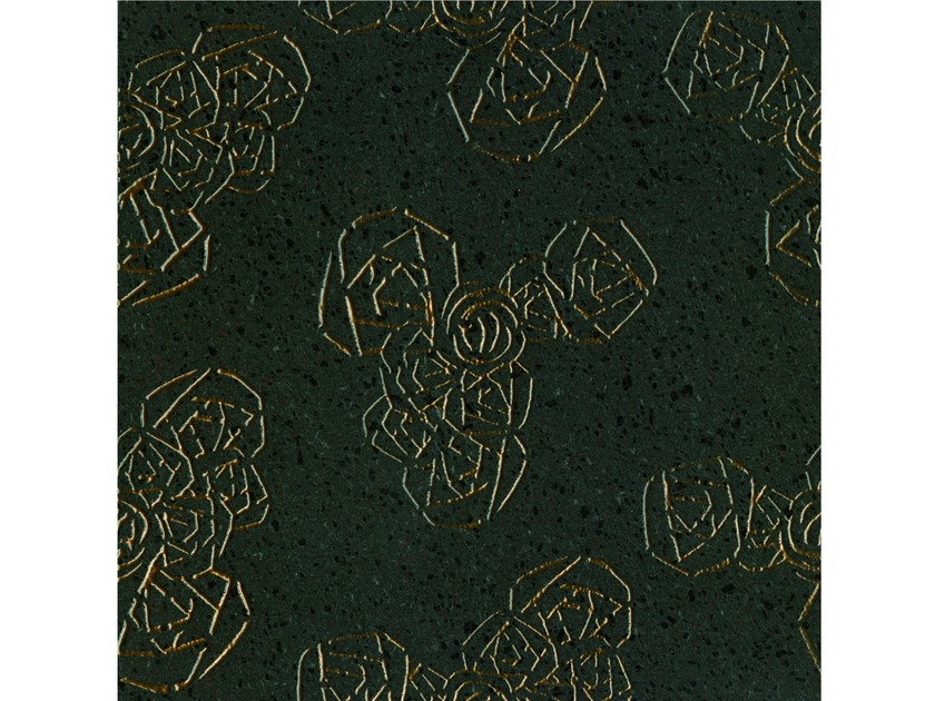 Lava stone wall/floor tiles KOMON TATTO KT10 BRONZO by Made a Mano