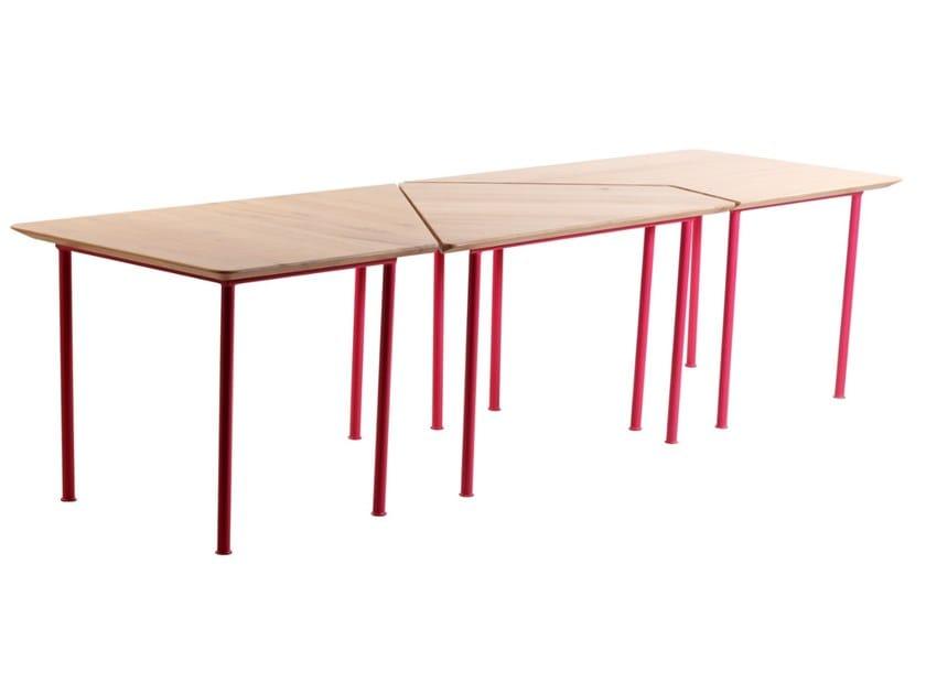 Rectangular English oak table KONEKSI by ALANKARAM